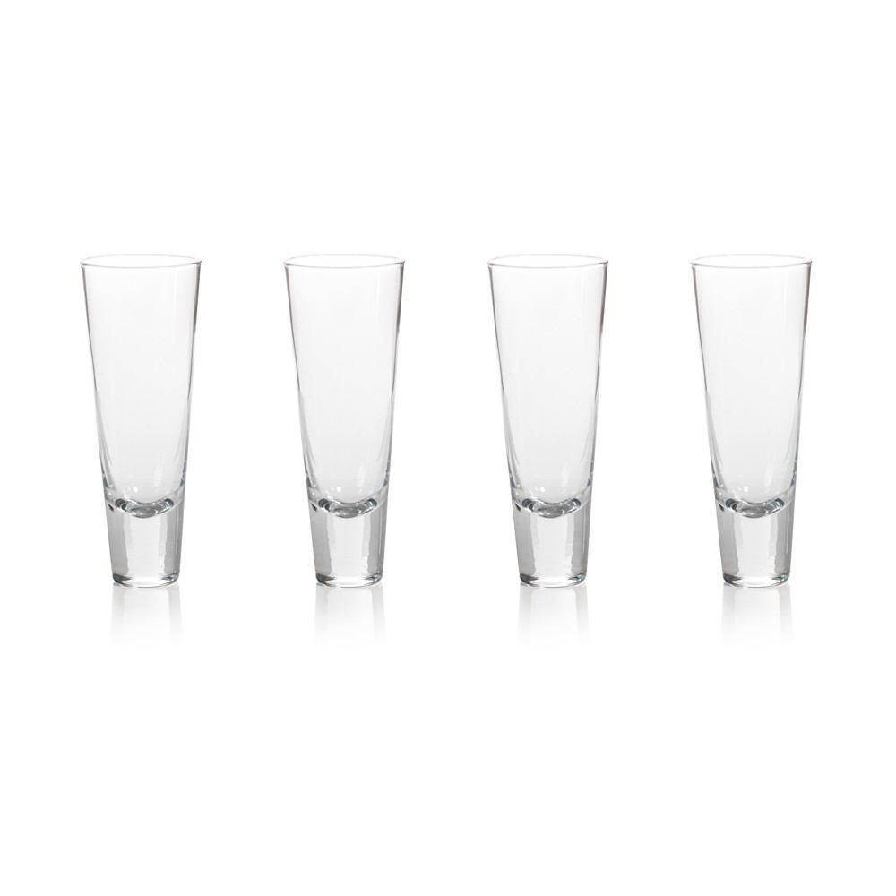 Zodax 7-.25-Inch Tall Anatole Tapered Drinking Glass - Set of 4