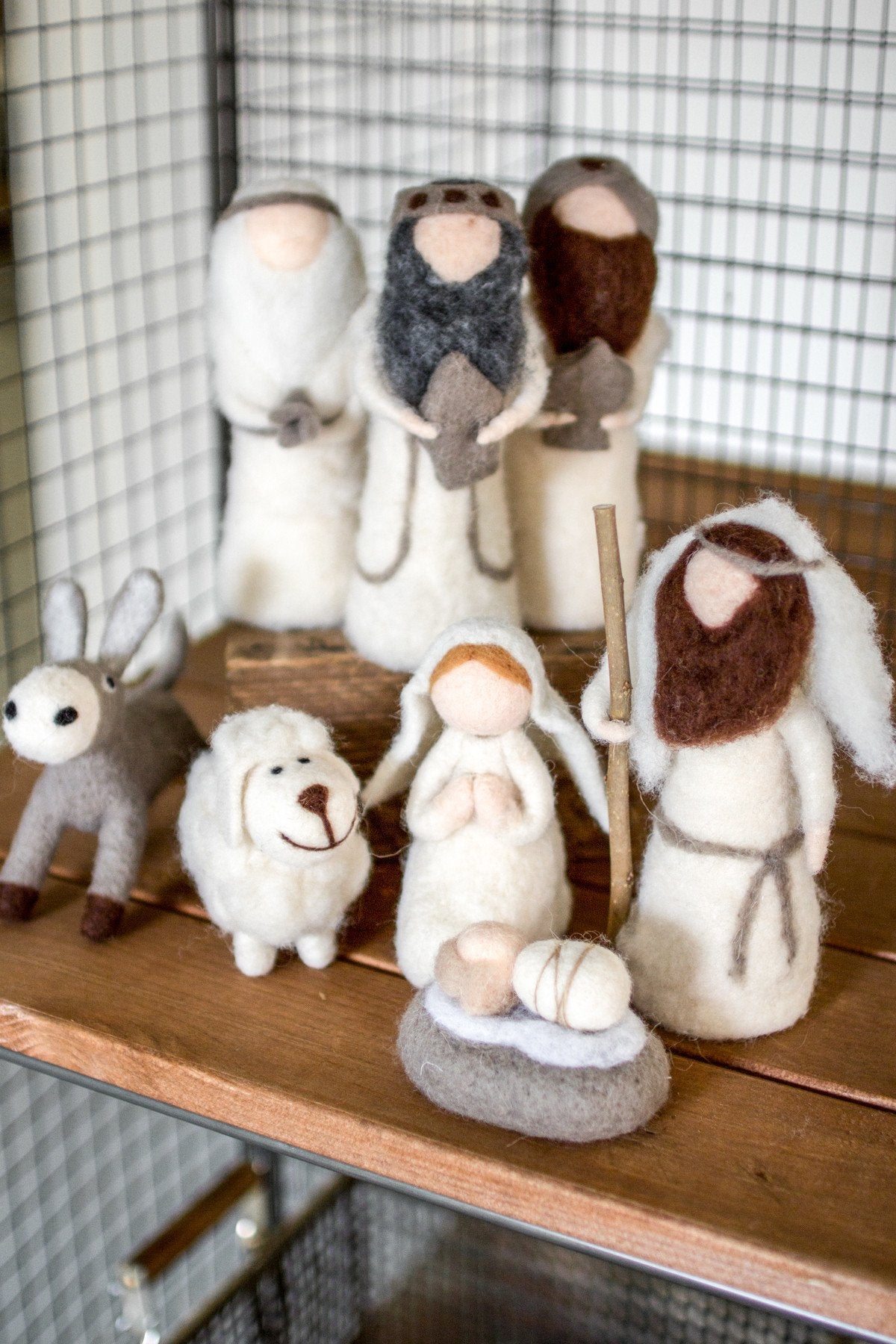 Kalalou Felt Nativity - Set Of 8