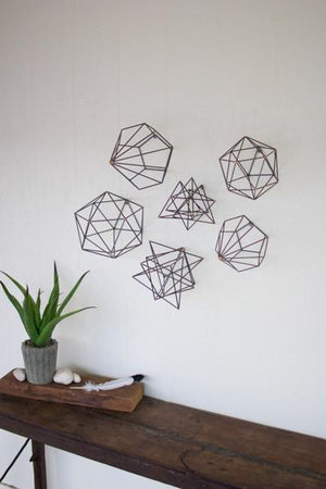 Kalalou Set of Six Geometric Orb Wall Art