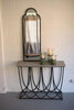 Kalalou Antique Black Iron Mirror With Arched Top