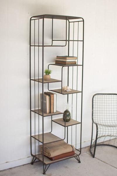 Kalalou Multi Level Wood And Metal Shelving Unit
