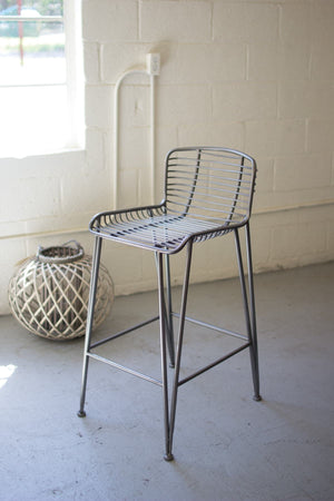 Kalalou Metal Bar Stool
