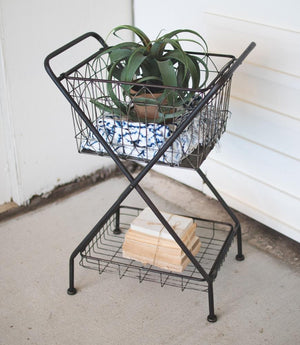 Kalalou Metal Basket With Stand