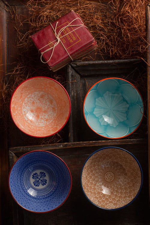 Assorted Ceramic Bowls - Small - Set of 4