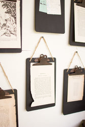 Kalalou Black Clip Board Photo/Notes Holder