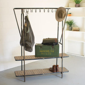 Kalalou Wood & Iron Display Unit