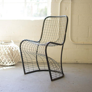 Kalalou Woven Metal Dining Chair