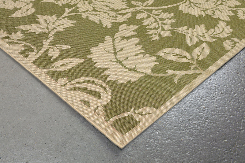 Terrace Floral Green Indoor/Outdoor Rug | MapleNest