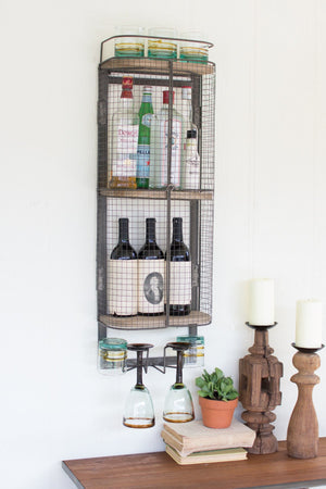 Kalalou Wire Bar Storage Cabinet