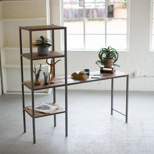 Kalalou Recycled Wood & Metal Work Station