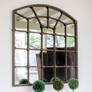 Kalalou Arched Iron Mirror