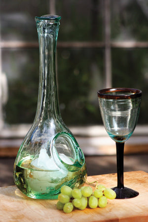Kalalou White Wine Glass Decanter With Ice Pocket