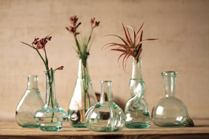 Kalalou Bottle Bud Vases - Set Of 6
