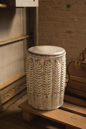 Kalalou Pressed Tin Stool