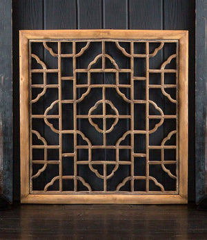 Vagabond Vintage Chinese Wood Screen - Square