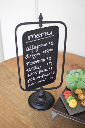 Kalalou Table Top Swivel Chalkboard Sign