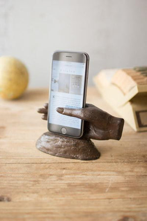 Kalalou Cast Iron Hand Smart Phone Stand