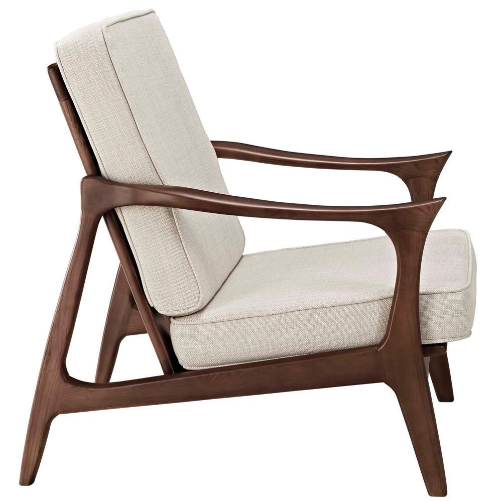 Modway Paddle Upholstered Lounge Chair - Brown