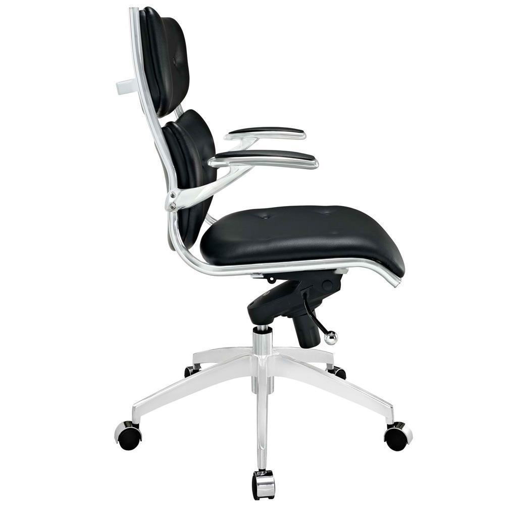 Modway Push Mid Back Office Chair - Black
