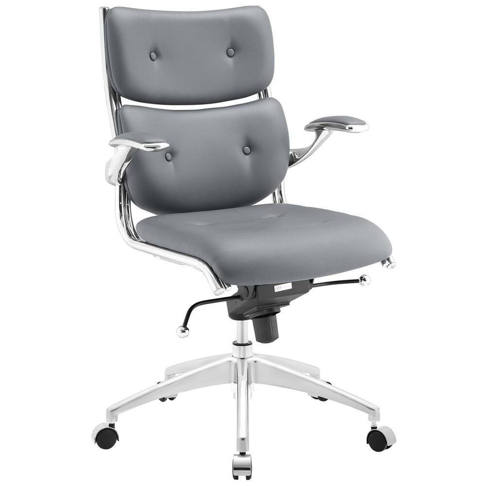 Modway Push Mid Back Office Chair - Gray