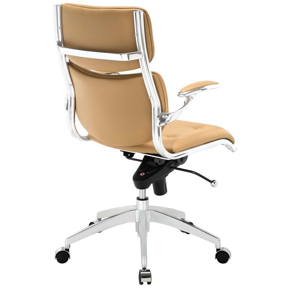 Modway Push Mid Back Office Chair - Tan