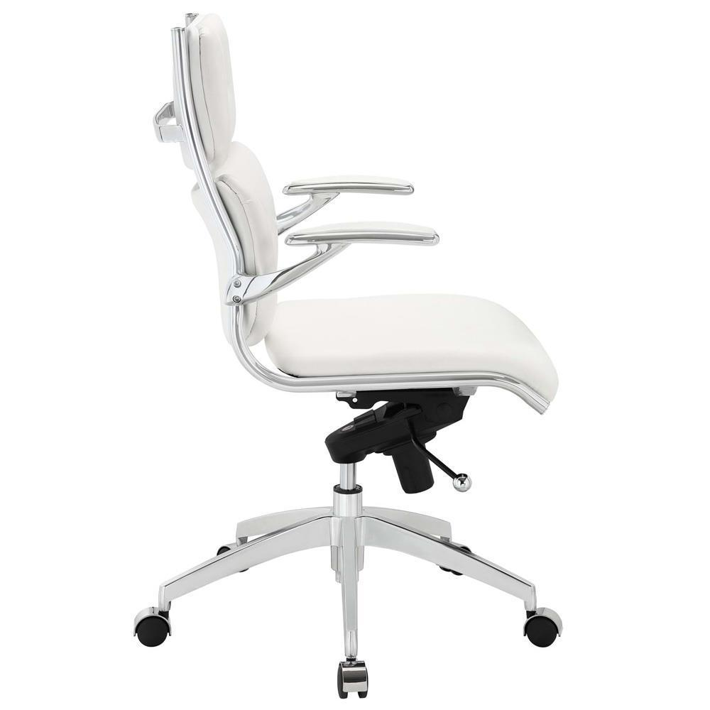 Modway Push Mid Back Office Chair - White
