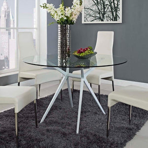 Modway Tilt Round Dining Table - White