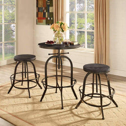 Modway Sylvan Wood Top Bar Table - Black