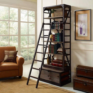 Modway Velocity Wood Bookshelf - Brown