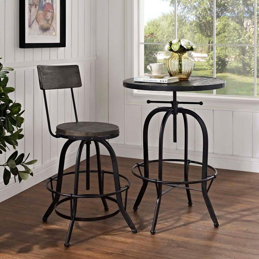 Modway Procure Wood Bar Stool - Black