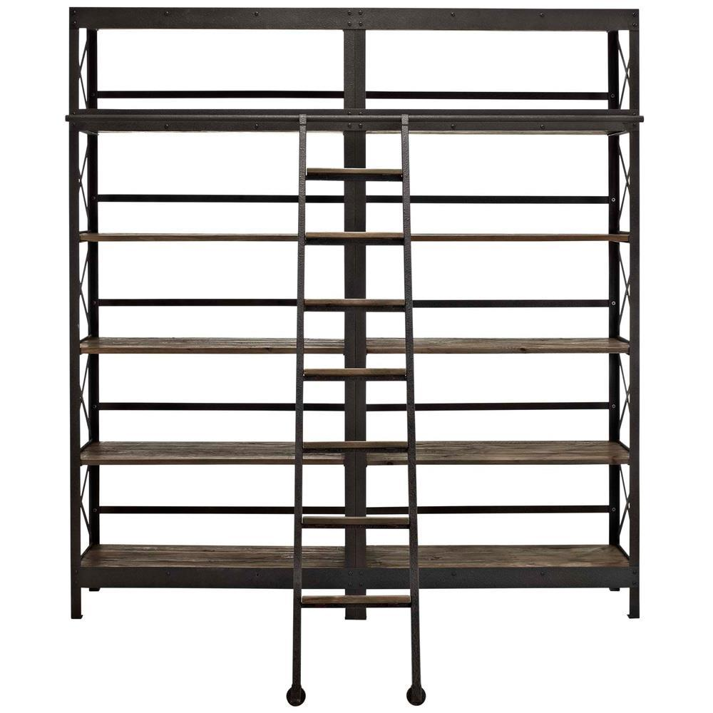 Modway Headway Wood Bookshelf - Brown