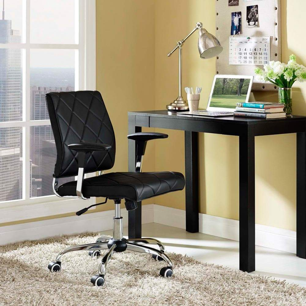 Modway Lattice Vinyl Office Chair - Black