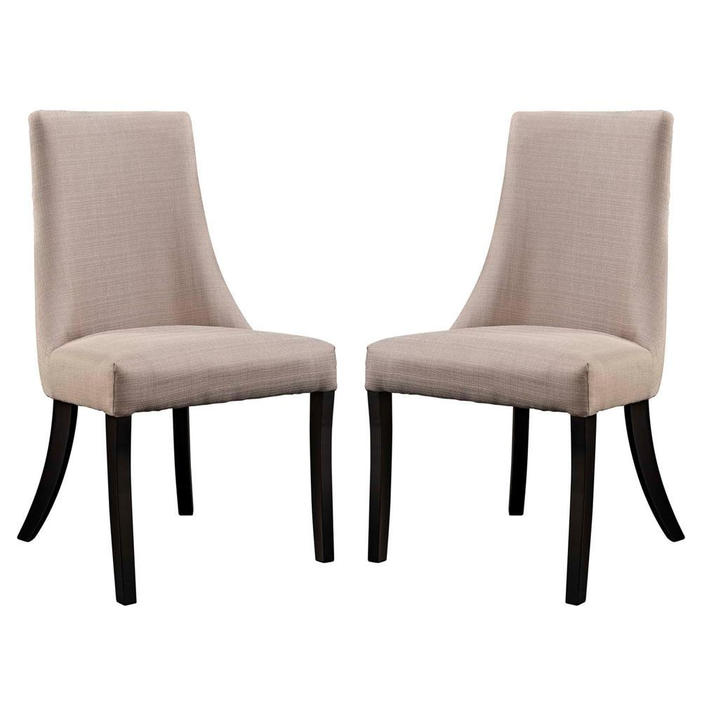 Modway Reverie Dining Side Chair Set of 2 - Beige