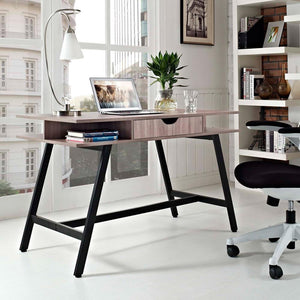 Modway Turnabout Office Desk - Birch