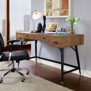 Modway Surplus Office Desk - Walnut