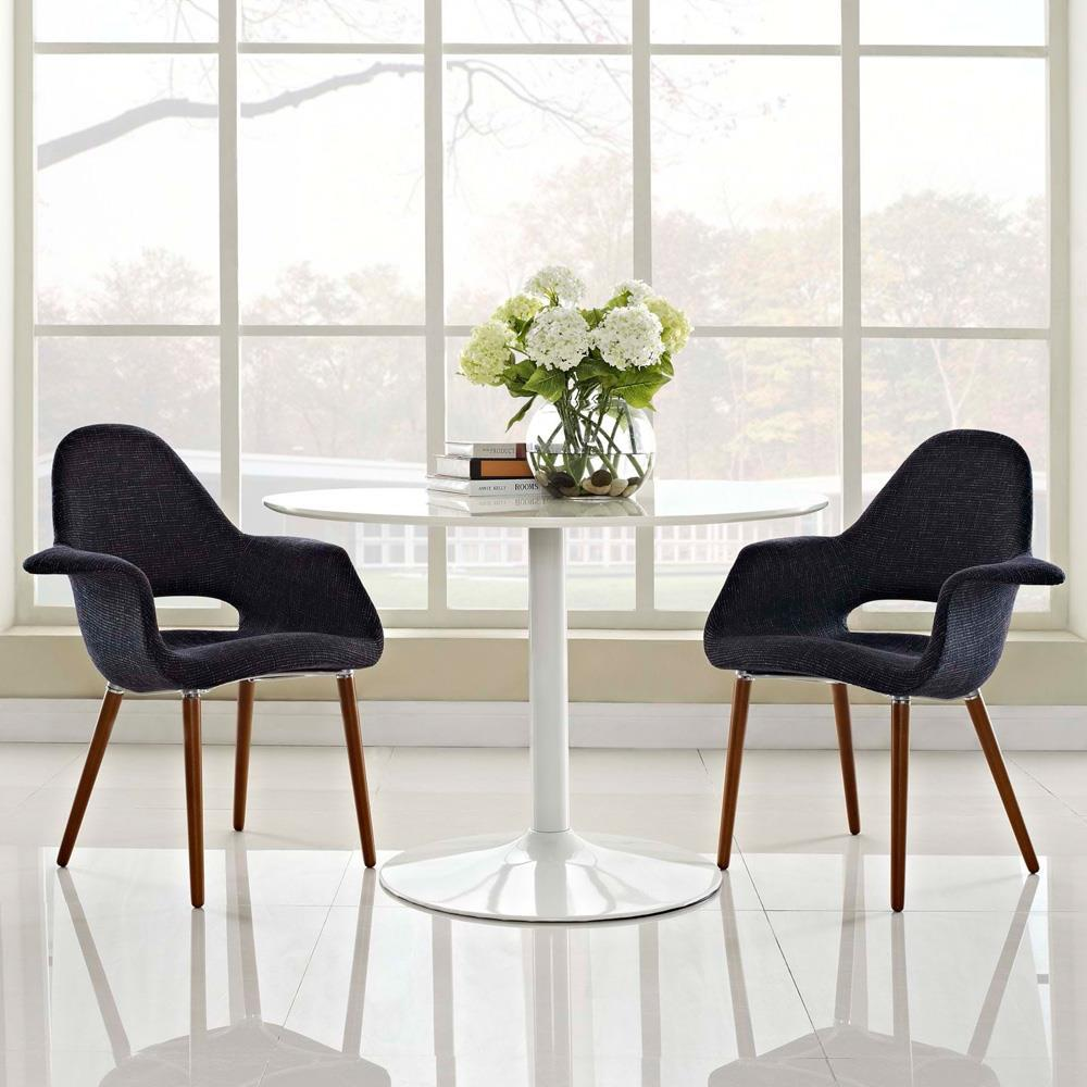 Modway Aegis Dining Armchair Set of 2 - Black