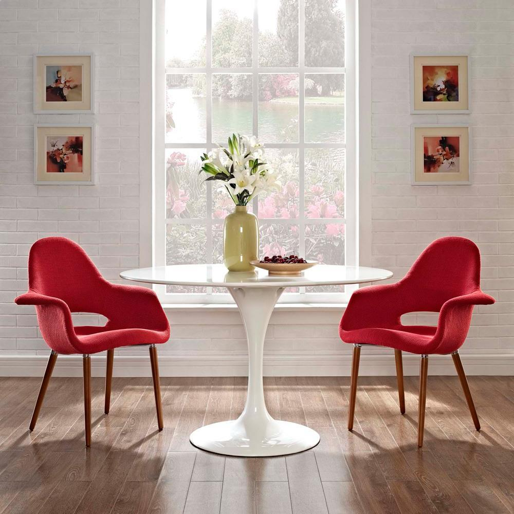 Modway Aegis Dining Armchair Set of 2 - Red