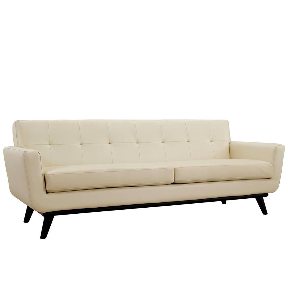 Modway Engage Bonded Leather Sofa - Beige