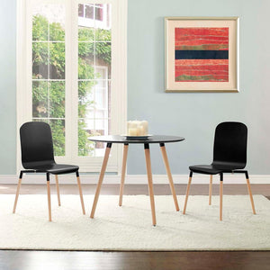 Modway Stack Wood Dining Chairs - Set of 2