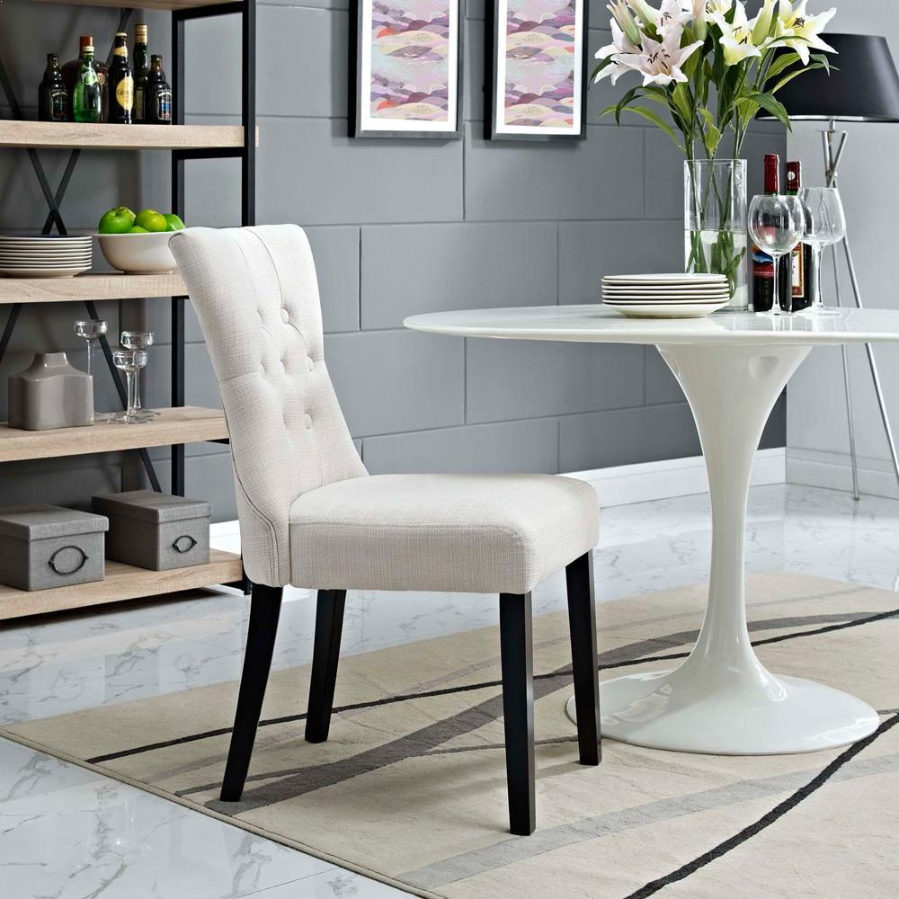 Modway Silhouette Dining Side Chair - Beige