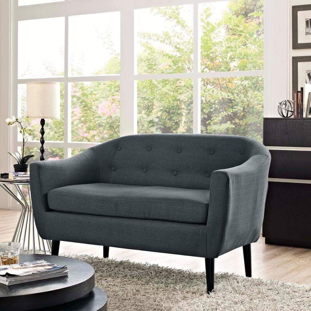 Modway Wit Upholstered Loveseat - Gray