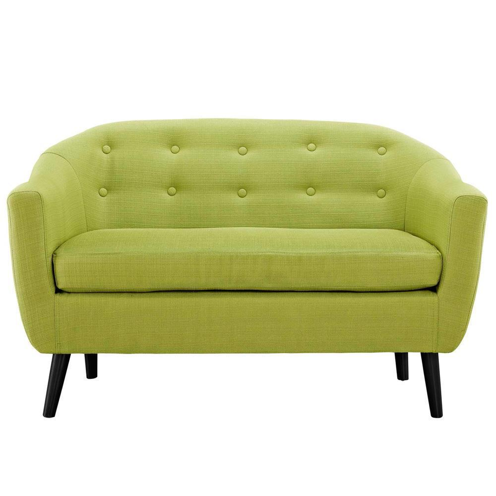 Modway Wit Upholstered Loveseat - Wheatgrass