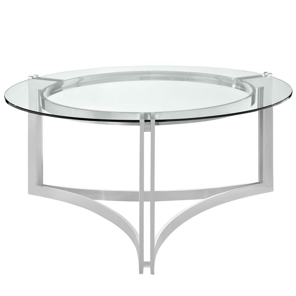 Modway Signet Stainless Steel Coffee Table - Silver