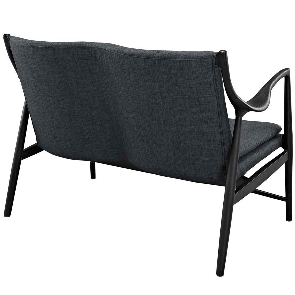 Modway Makeshift Upholstered Loveseat - Black Gray