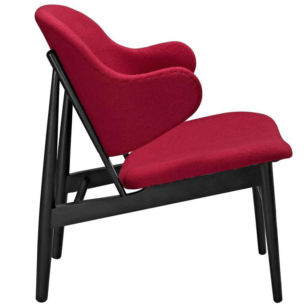 Modway Suffuse Upholstered Lounge Chair - Black Red