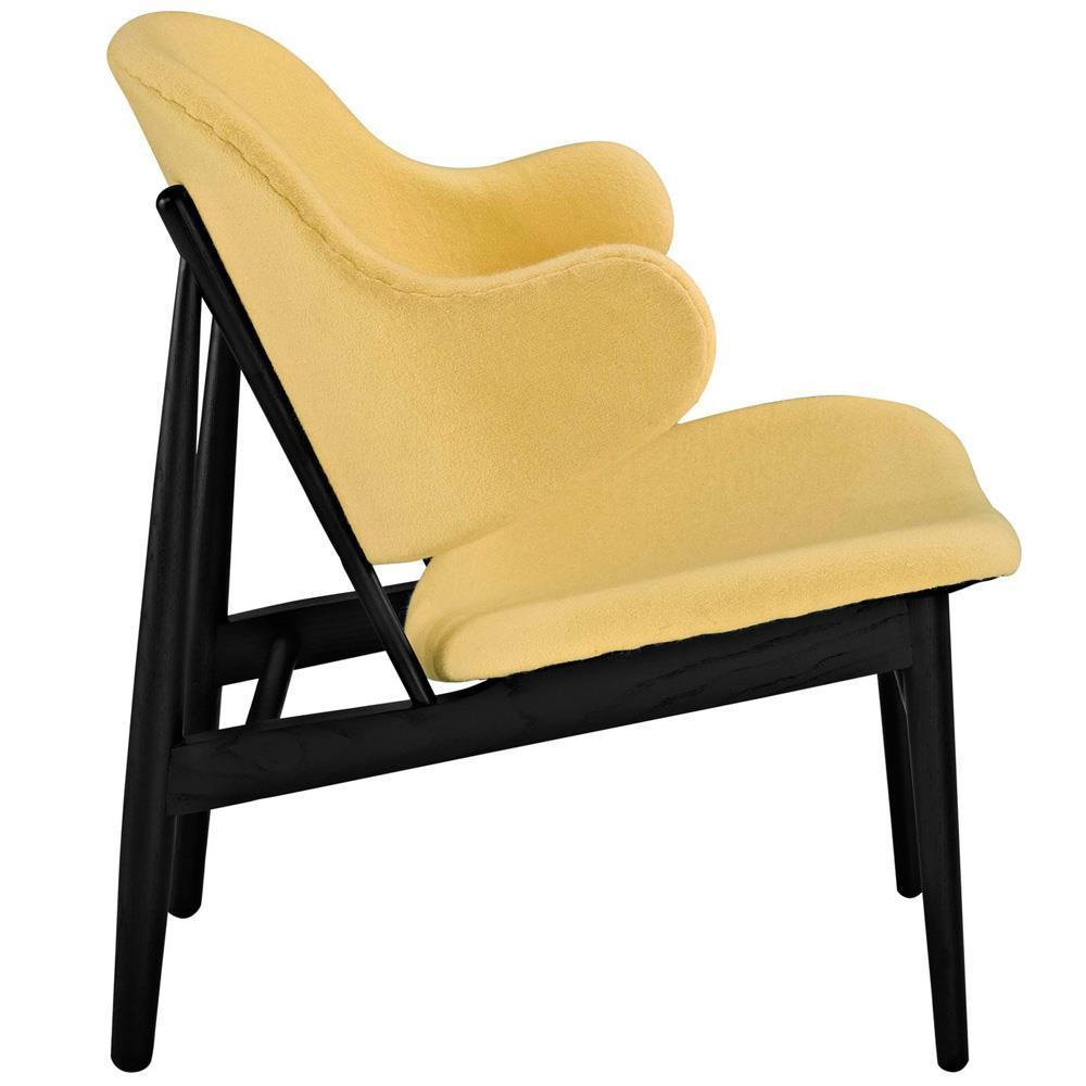Modway Suffuse Upholstered Lounge Chair - Black Yellow