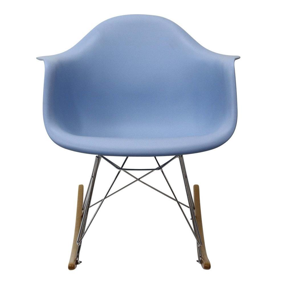 Modway Rocker PP Plastic Lounge Chair - Blue