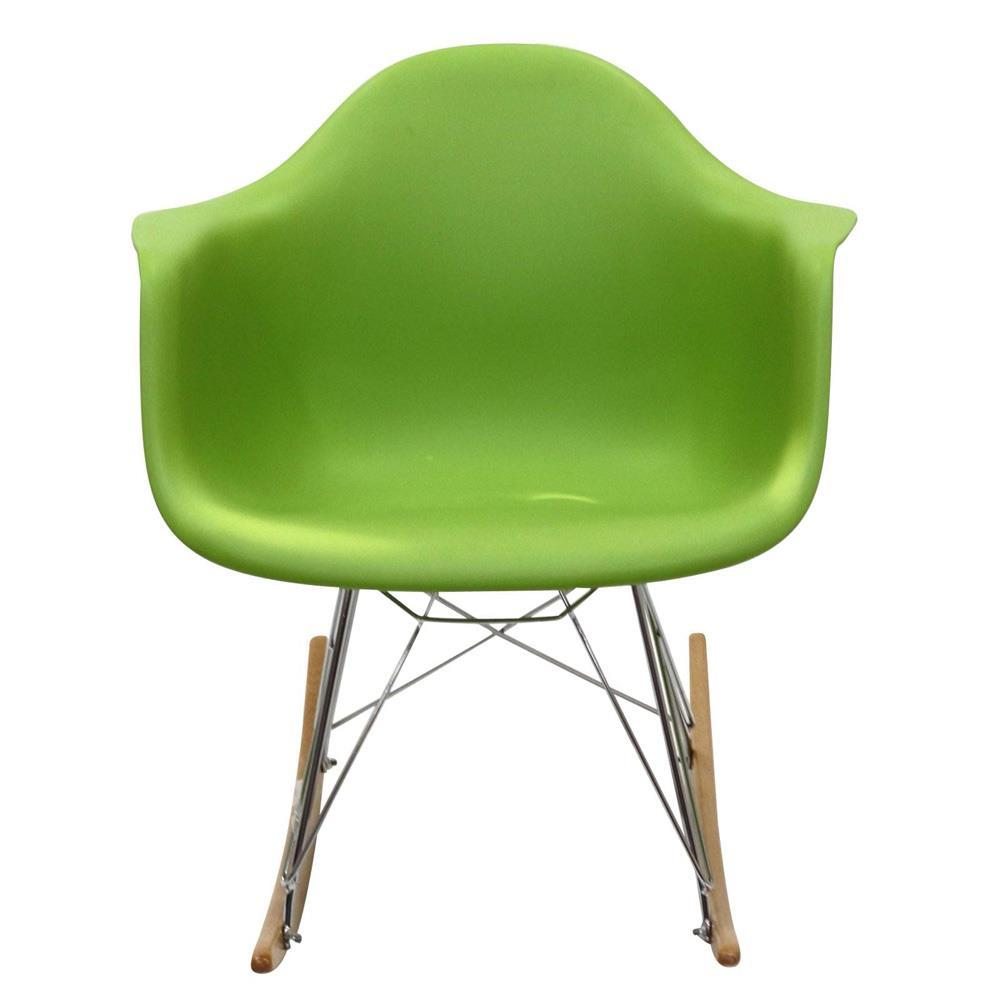 Modway Rocker PP Plastic Lounge Chair - Green
