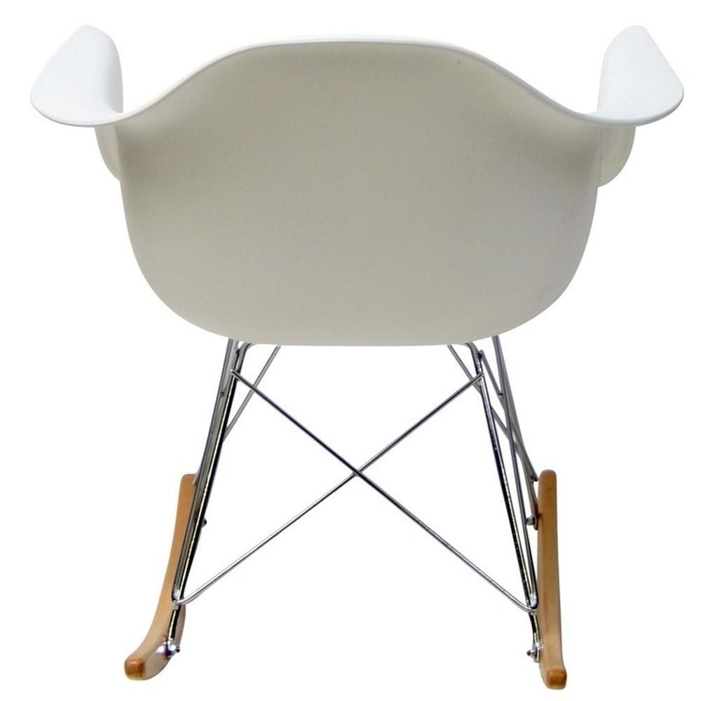 Modway Rocker PP Plastic Lounge Chair - White