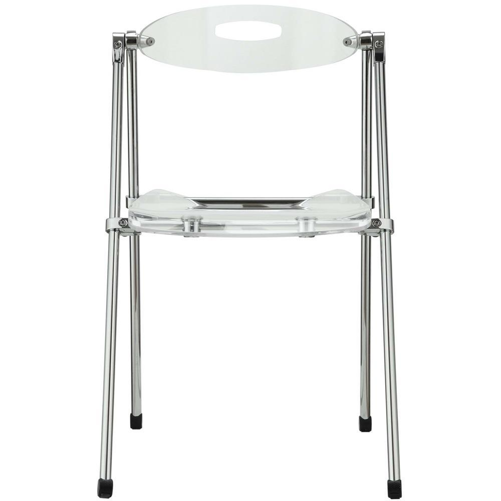 Modway Telescope Folding Chair - Clear